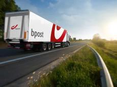 Vrachtwagen van bpost